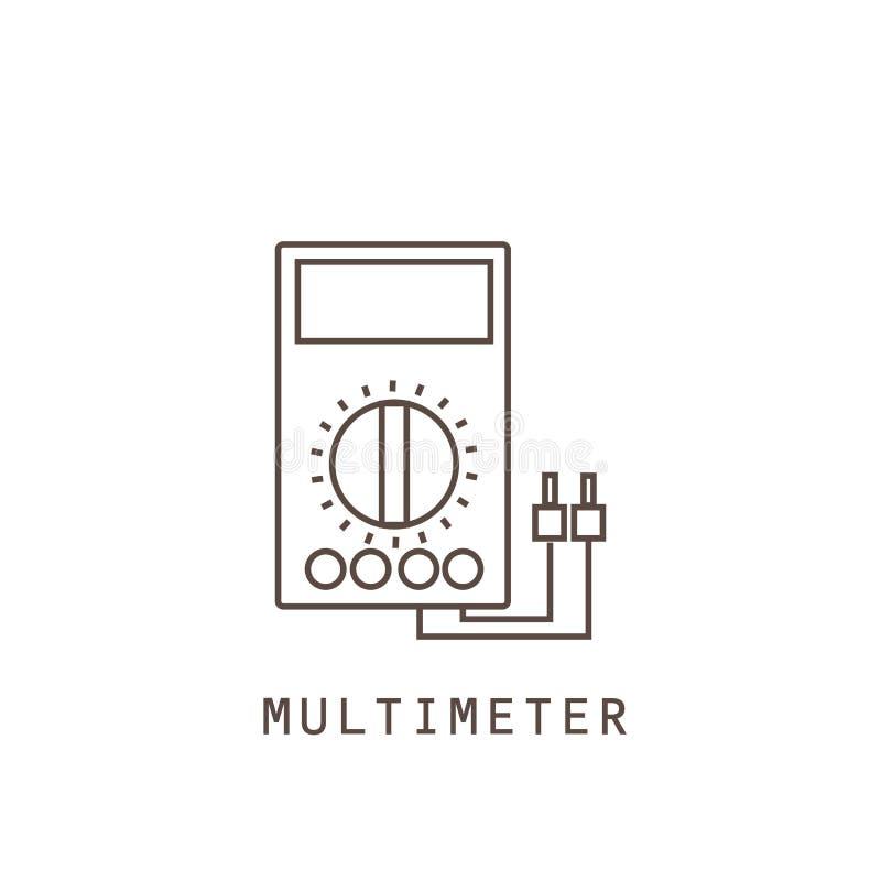 Icon multimeter on white background. Icon multimeter on. Vector illustration vector illustration