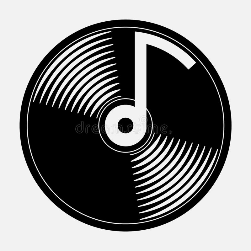 Icon music, music CD. An icon for mobile devices igat music, fully editable image royalty free illustration