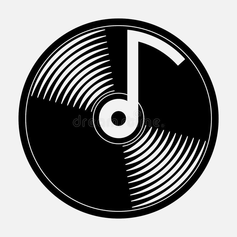 Icon music, music CD. An icon for mobile devices igat music, fully image royalty free illustration