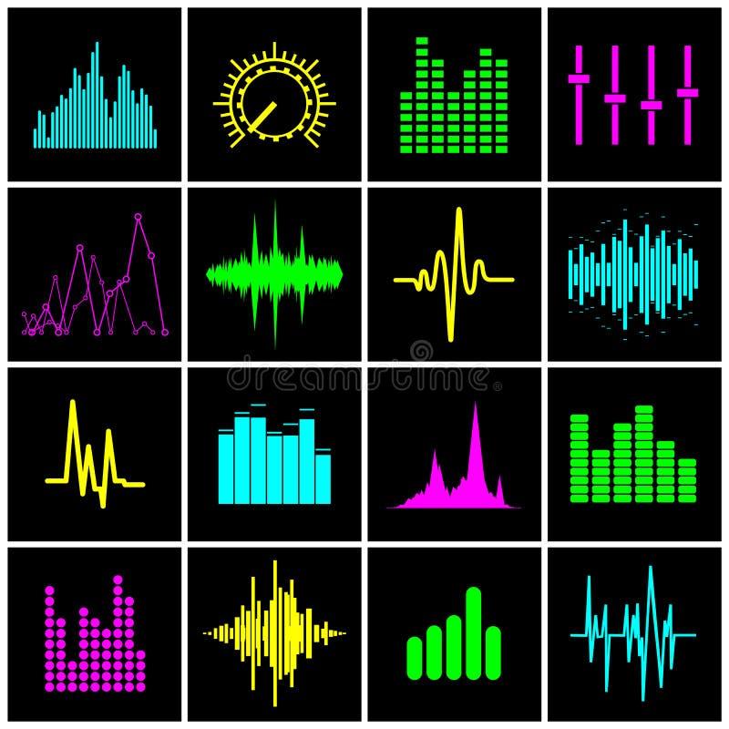 Icon music wave vector stock illustration