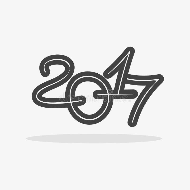 Icon 2017 royalty free illustration