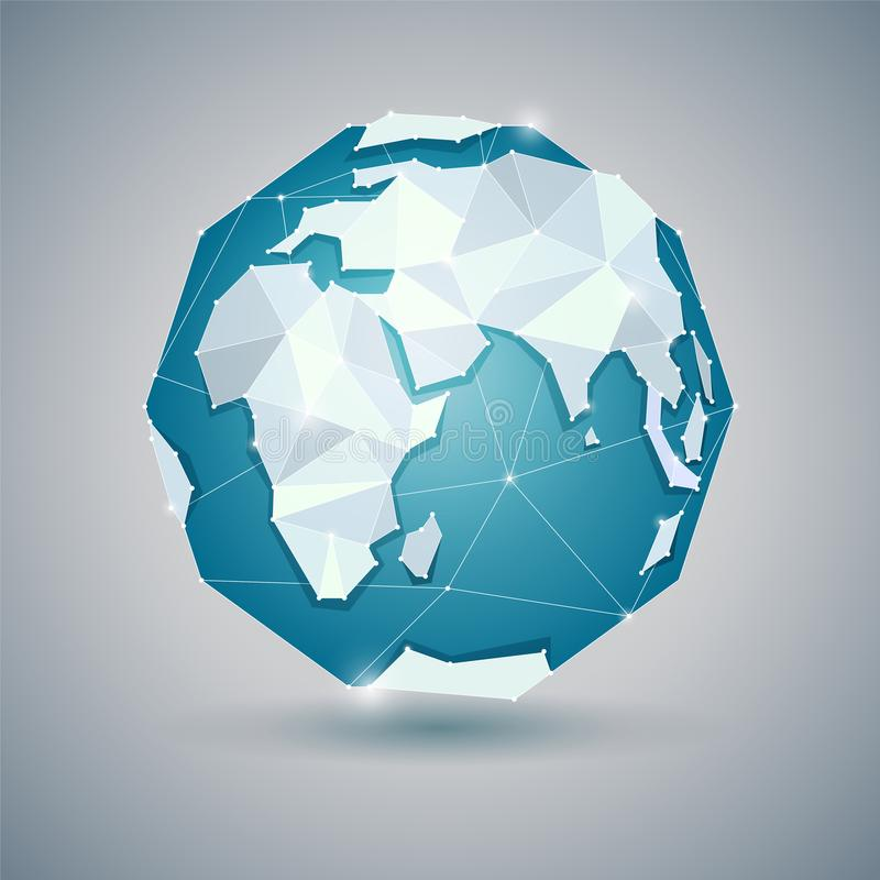 Free Icon Of Blue Globe Or Earth, Planet Stock Images - 110872454
