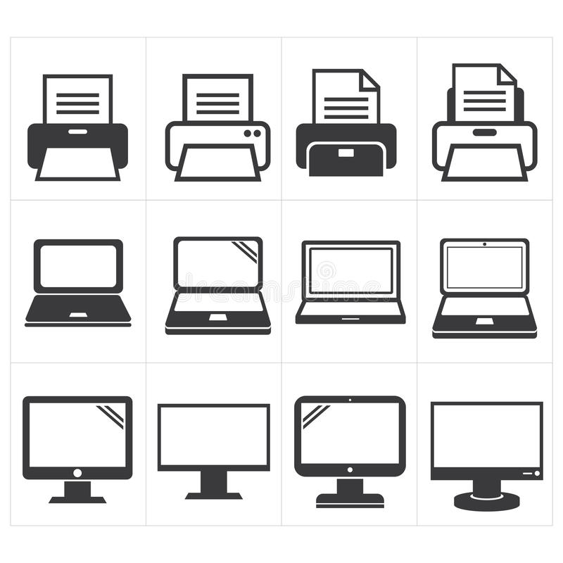Free Icon Office Equipment Fax ,laptop,printer Stock Images - 42028944