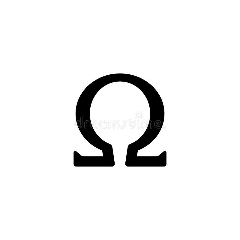 Icon Omega Symbol Symbol Sign Stock Vector Illustration Of