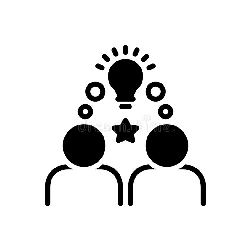 Black solid icon for Onboarding, integration and infographic royalty free illustration
