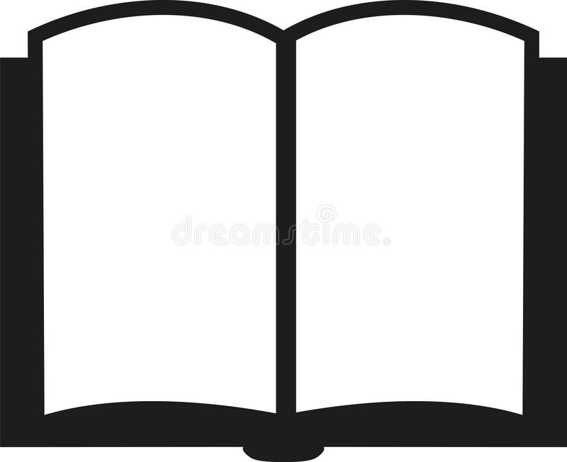 Icon of an open book royalty free illustration