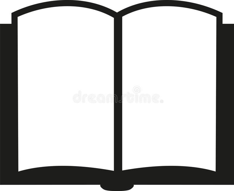Icon of an open book vector illustration