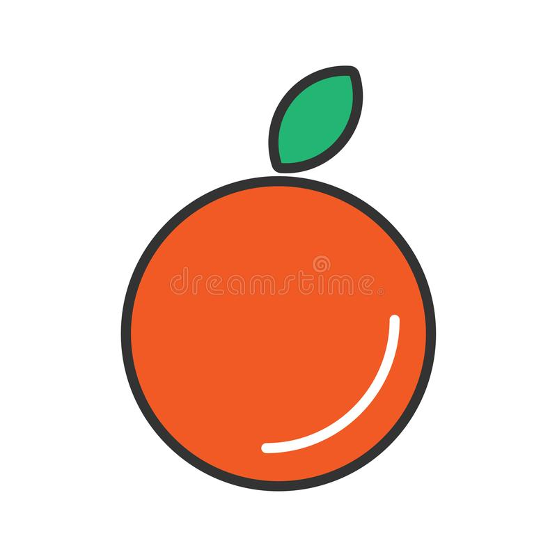 Oranges Icon design. Icon of Oranges design for personal or commercial use. Full Editable Color on EPS vector illustration