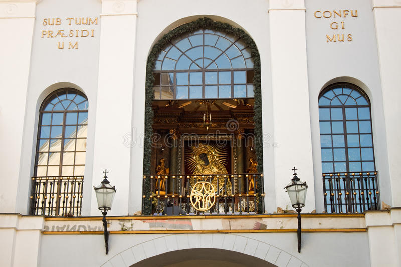 The icon Our Lady of the Gate of Dawn in Vilnius, Lithuania royalty free stock image