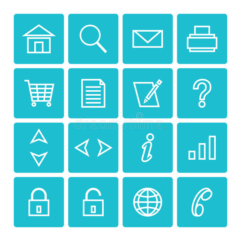 Free Icon Pack Web And Internet Isolated Stock Photo - 33093570
