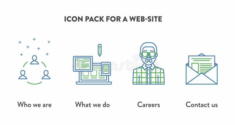 Icon pack for a web site with icons displaying who stock vector download icon pack for a web site with icons displaying who stock vector illustration ccuart Gallery