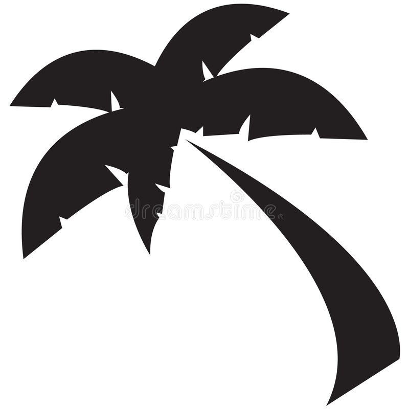 Icon - Palm Tree stock photo
