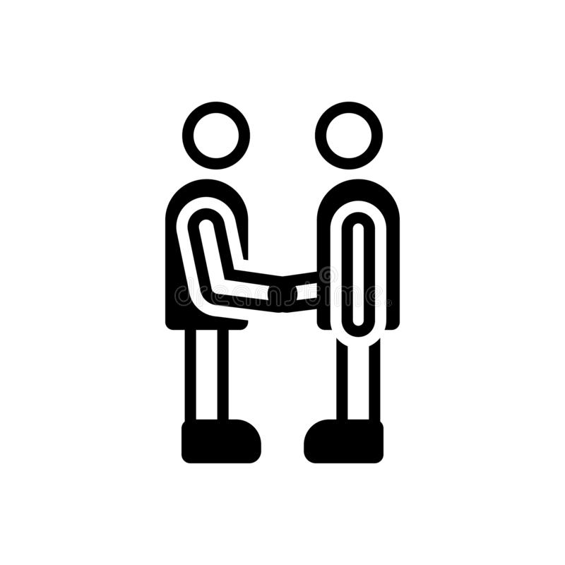 Black solid icon for Partner, fellow and companion. Black solid icon for Partner, friend, buddy, dost, handshake,  fellow and companion vector illustration