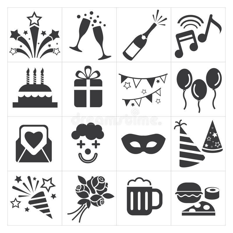 Icon party celebrate. Vector icon set party celebrate vector illustration