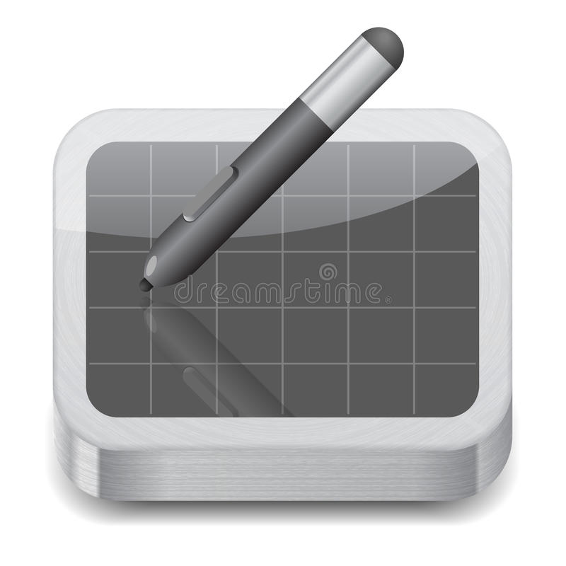 Download Icon for pen tablet stock vector. Illustration of texture - 25389233