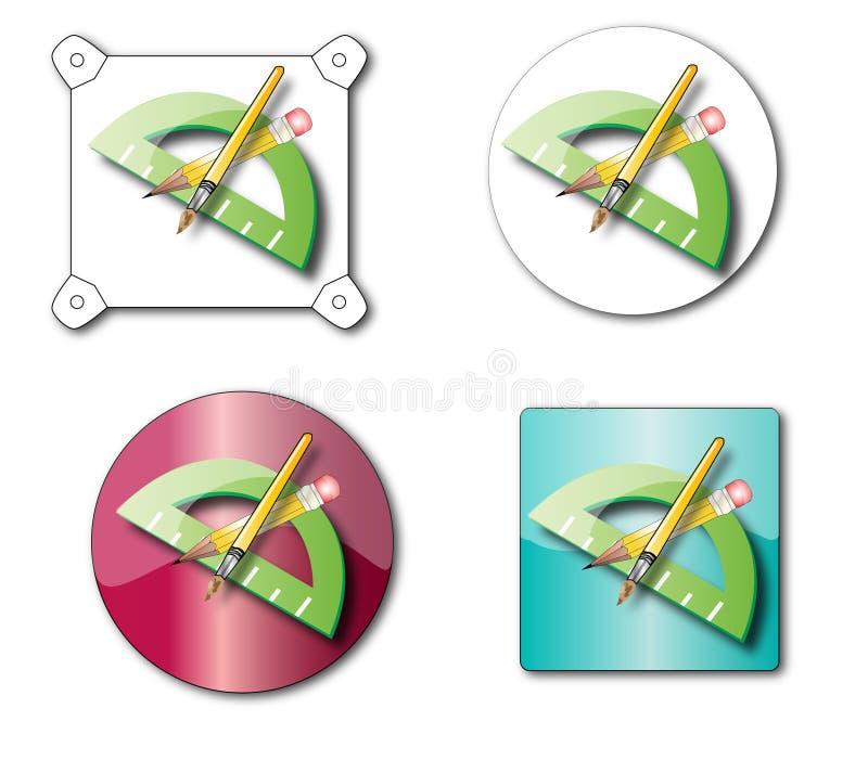 icon pencil ελεύθερη απεικόνιση δικαιώματος