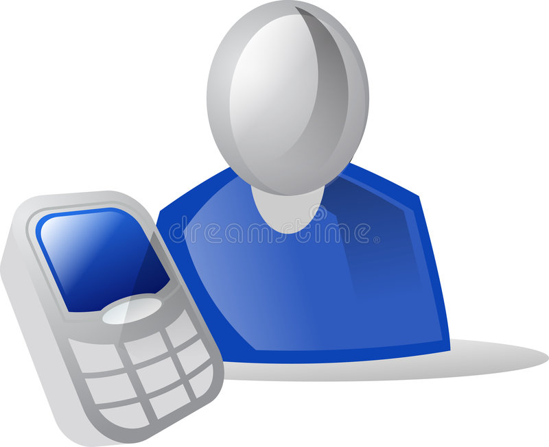 Download Icon People & Cellular stock illustration. Image of icon - 3329112