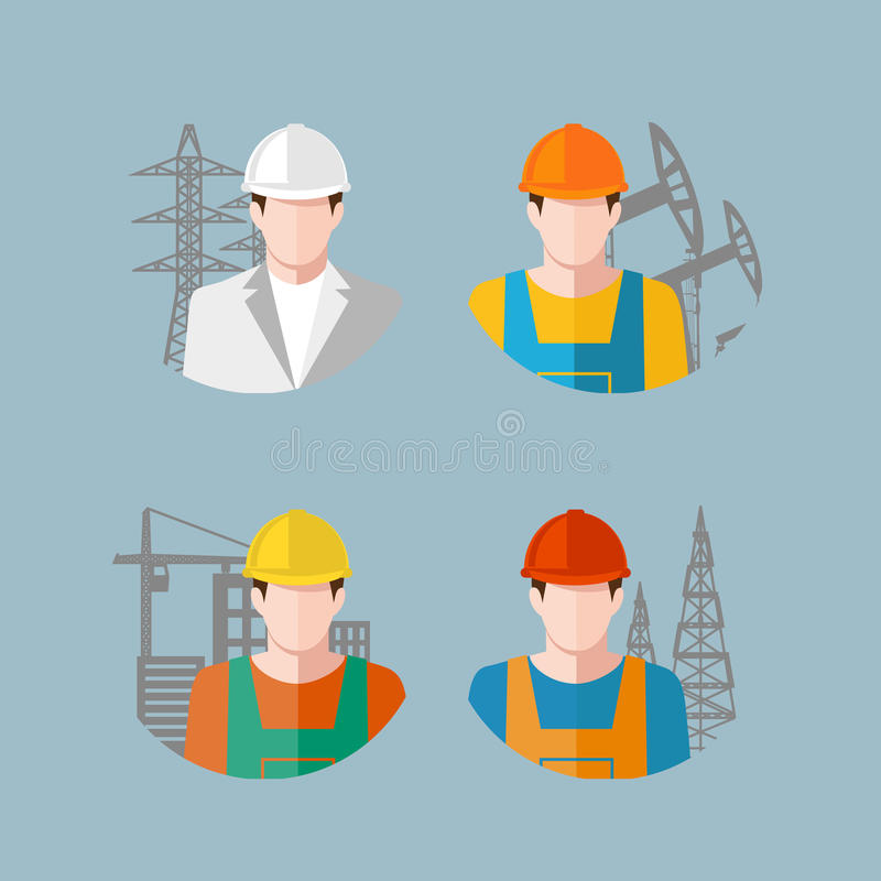 Icon people Industry. On the image is presented icon people Industry royalty free illustration