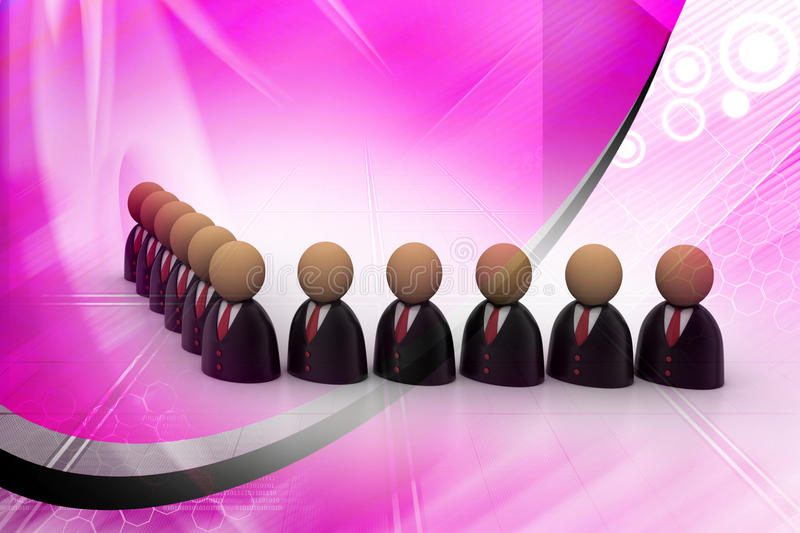 Icon Of Peoples In Business Suit Stock Illustration