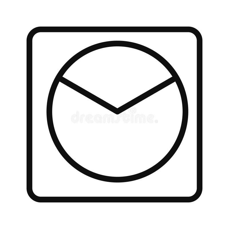 Icon pie chart single icon graphic design royalty free illustration