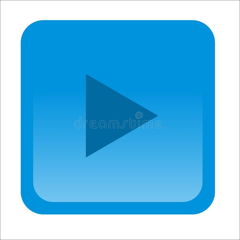 Icon play blue on android royalty free stock images