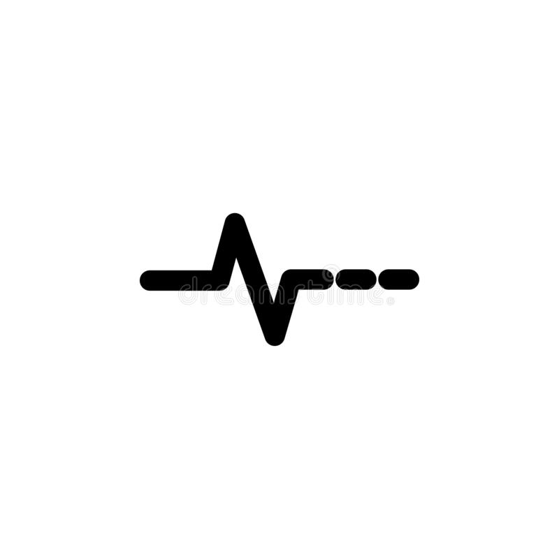 The icon of Pulse. Simple flat icon illustration, vector of Pulse for a website or mobile application. On white background stock illustration
