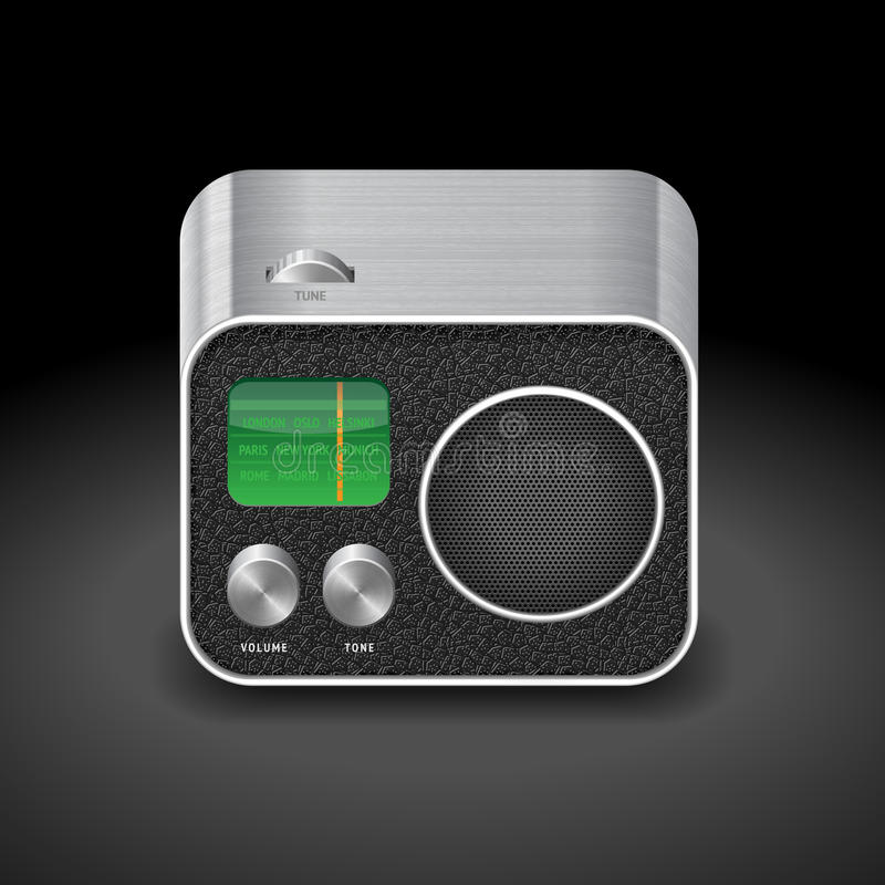 Icon for radio royalty free illustration