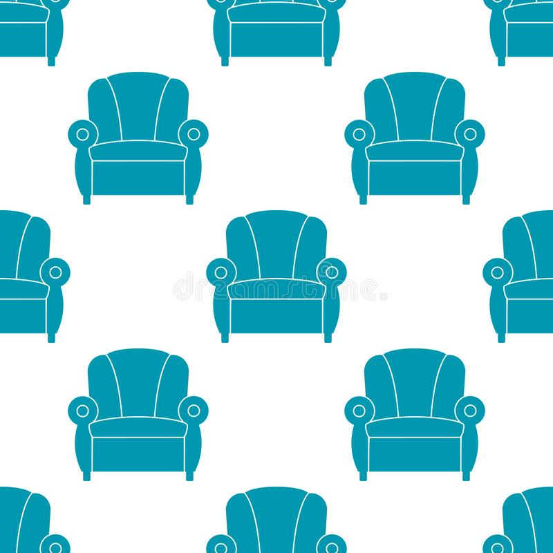 Recliner with armrests, seamless pattern. Vector illustration. Icon recliner. Chair with armrests, seamless pattern. Vector illustration royalty free illustration