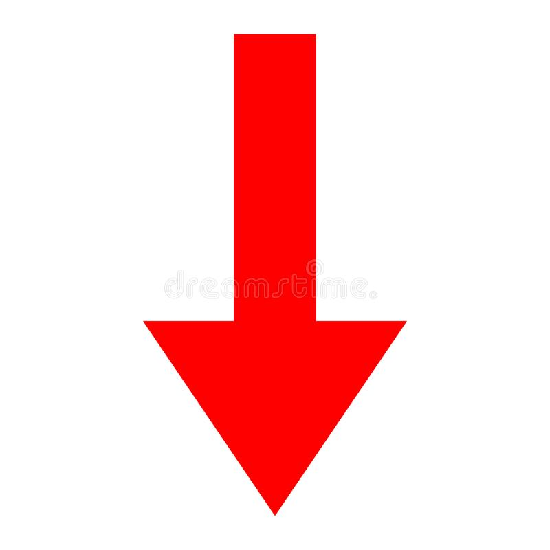 Icon Red Arrow Direction On A White Background Stock Vector ...