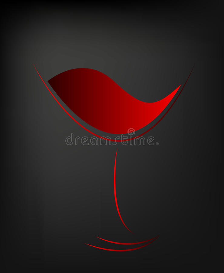 Icon of red wine royalty free illustration