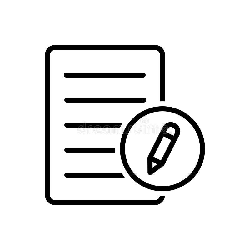 Black line icon for Registration, registry and agreement. Black line icon for  registration, authority, logo, symbol,  registry and agreement stock illustration