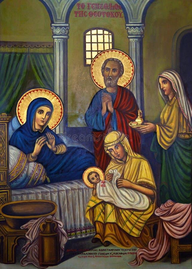 Icon - Religious Painting - Turkish Cyprus royalty free stock photo