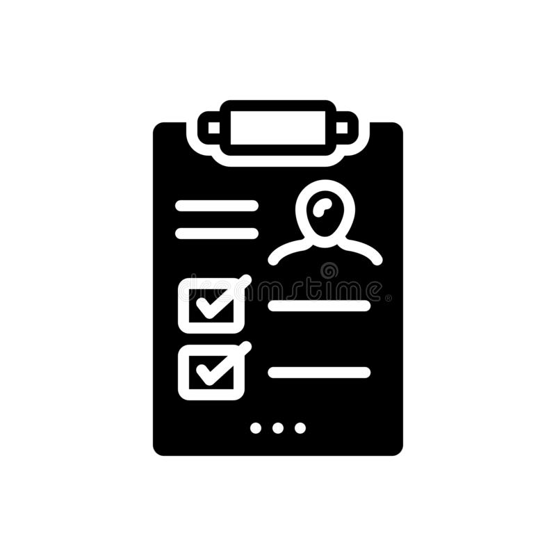 Black solid icon for Result, outcome and consequence. Black solid icon for Result, outgrowth, performance, miscellaneous,  outcome and consequence stock illustration
