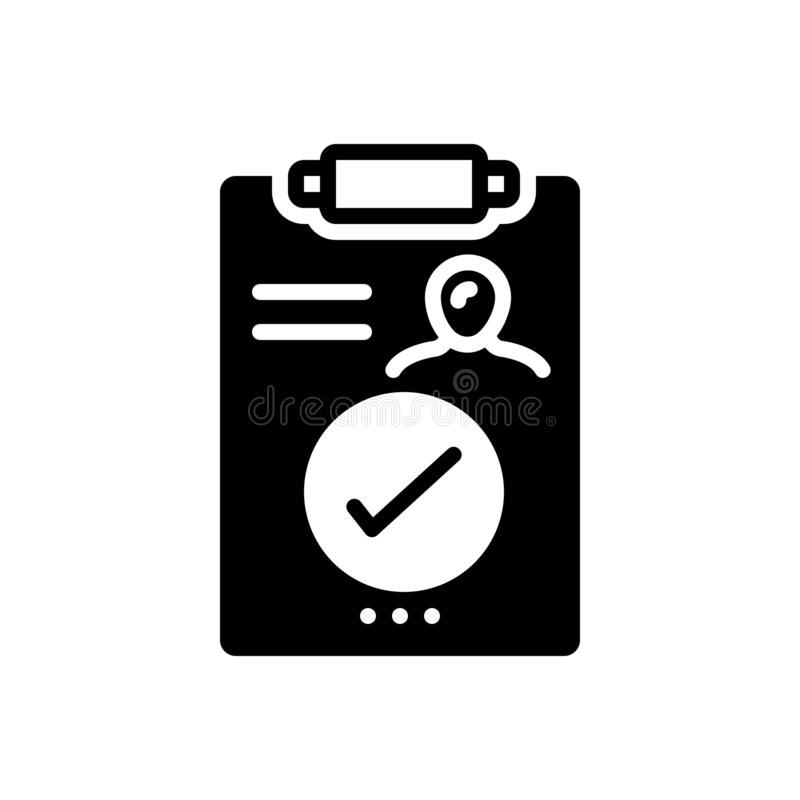 Black solid icon for Result, outcome and consequence. Black solid icon for Result, outgrowth, performance, miscellaneous,  outcome and consequence vector illustration