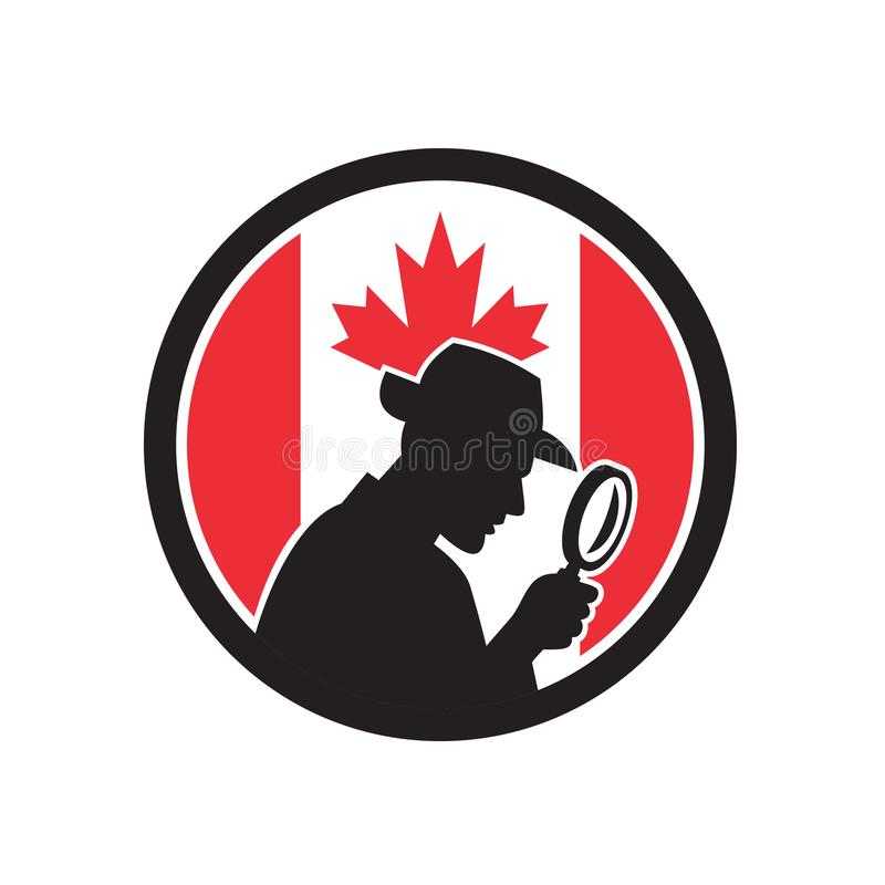 Canadian Private Investigator Canada Flag Icon vector illustration