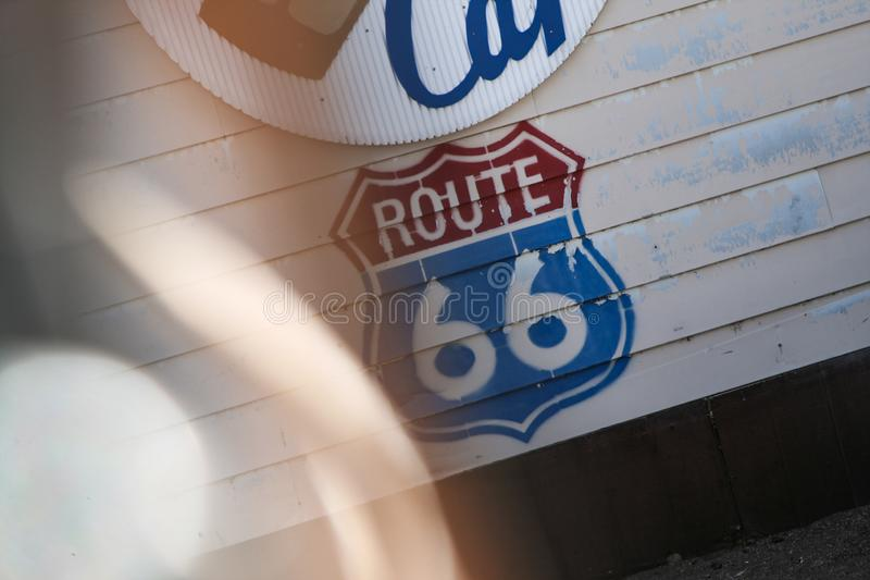 Icon Route 66 stock photography
