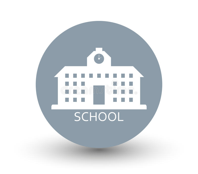 Icon school building stock illustration