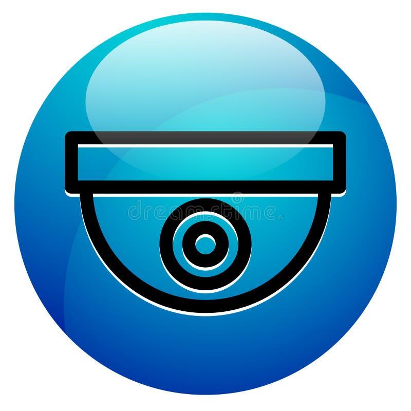 Icon With Security Camera Surveillance Camera Symbol Stock Vector