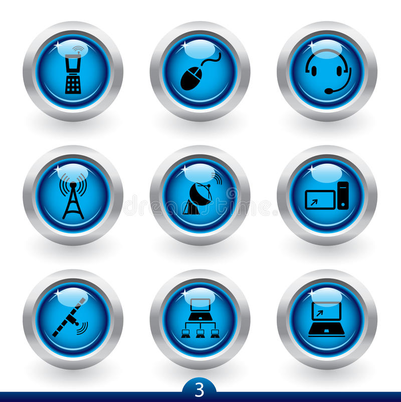 Download Icon Series 3 - Comunications Stock Vector - Image: 12857073