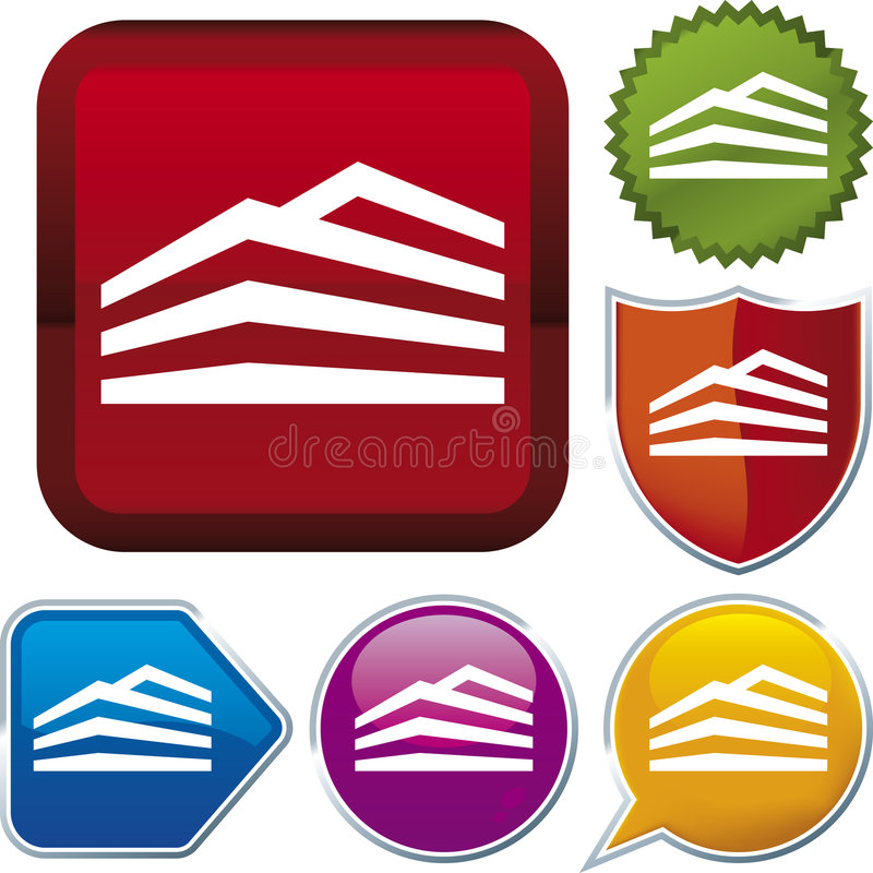 Icon series: building (vector) royalty free illustration
