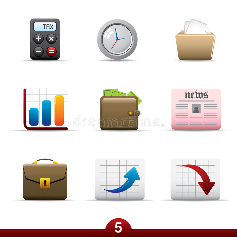 Icon series - business vector illustration