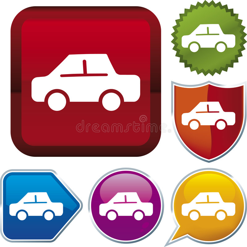 Download Icon series: car stock vector. Image of green, geometric - 4441757