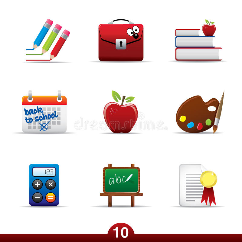 Download Icon Series - Education Royalty Free Stock Image - Image: 9862666