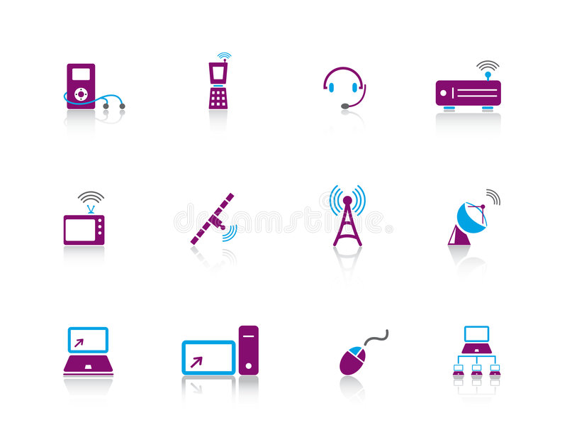 Download Icon series...electronics stock vector. Image of network - 7740723