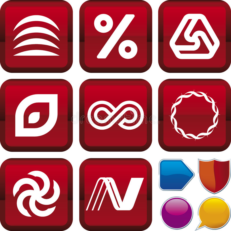 Download Icon series: geometry stock vector. Image of percentage - 7062677