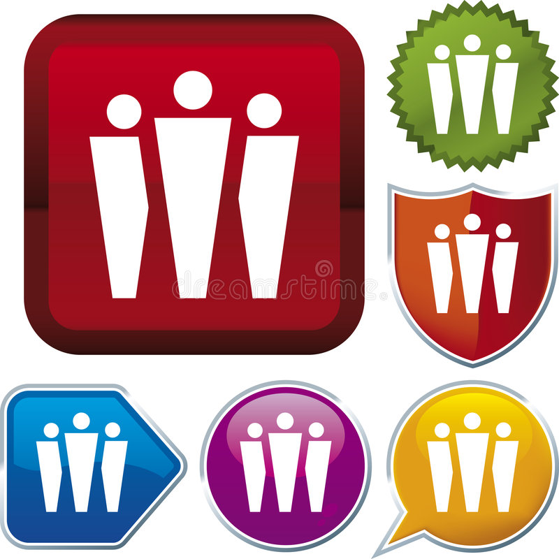 Icon series: group (vector) stock illustration