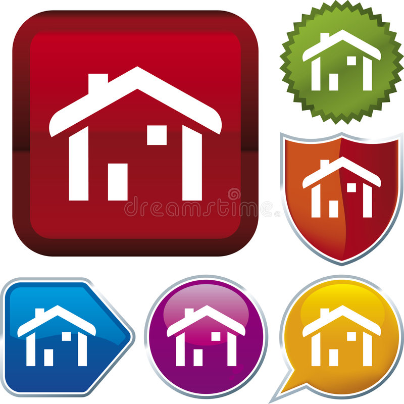 Icon series: home (vector) vector illustration