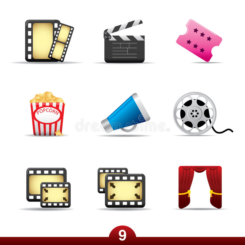 Icon series - movie and film royalty free illustration