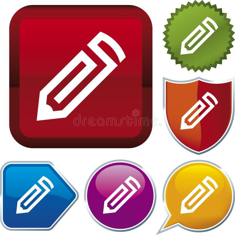 Download Icon Series: Pencil (vector) Stock Vector - Image: 4062738