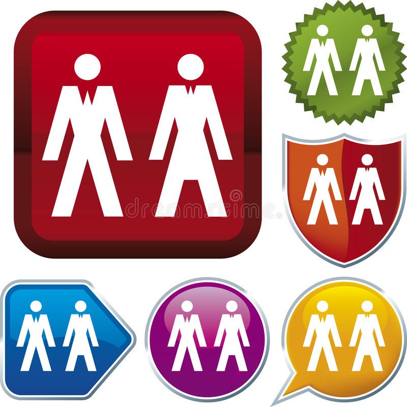 Icon series: people (vector) royalty free illustration